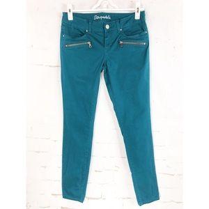 Aeropostale' Woman's Teal Lola Skinny Jeans Size 4
